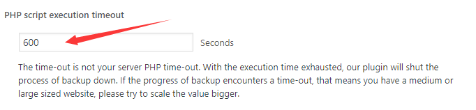 PHP script execution timeout
