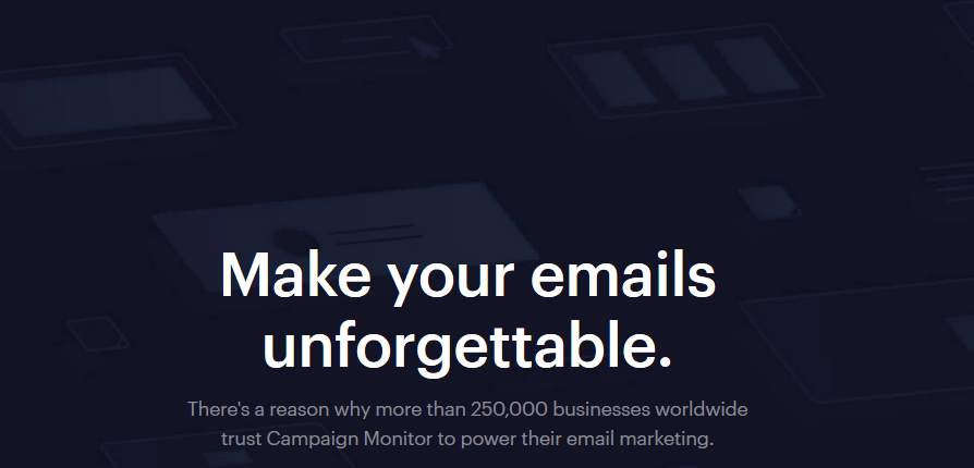 email marketing service provider - campaignmonitor