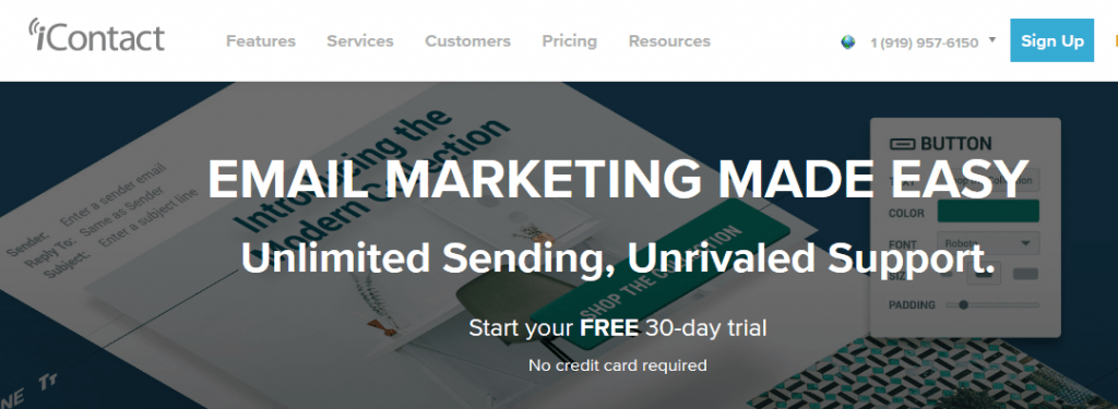 email marketing service provider - icontact