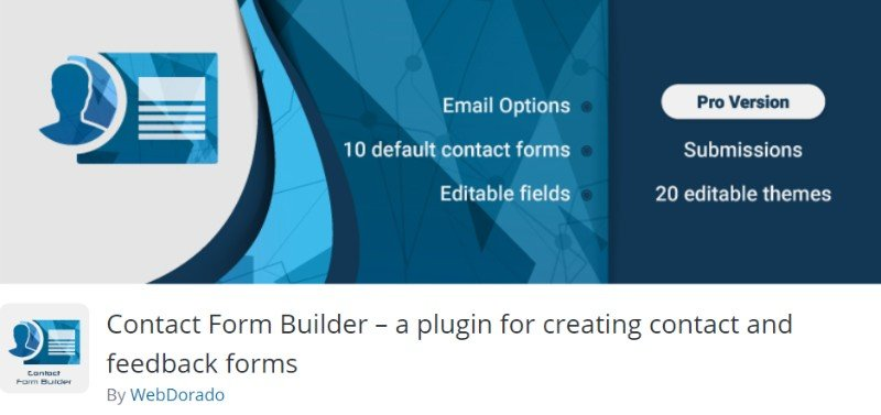 Contact Form Builder plugin