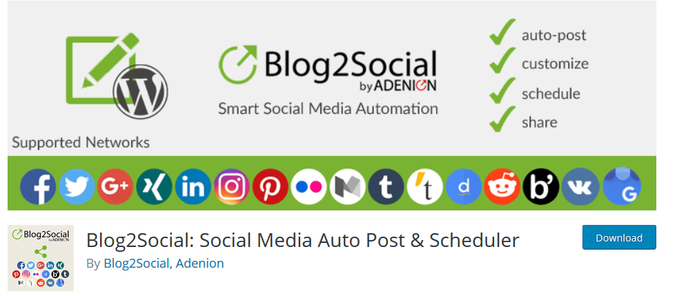 Blog 2 Social: Social Media Auto Post & Scheduler