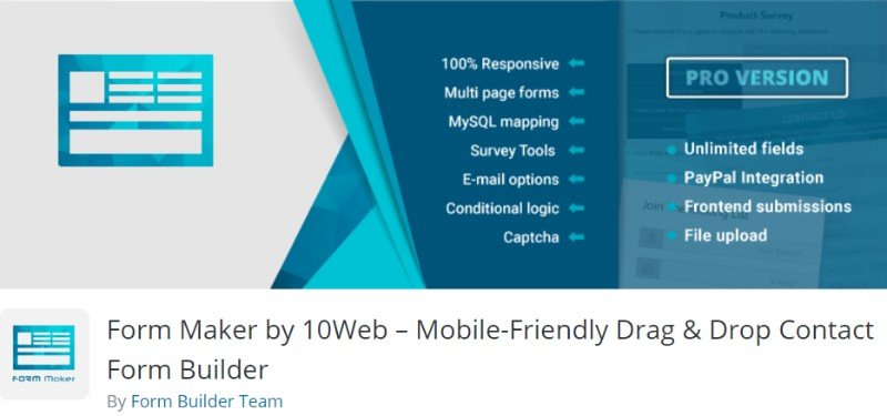Form Maker by 10Web