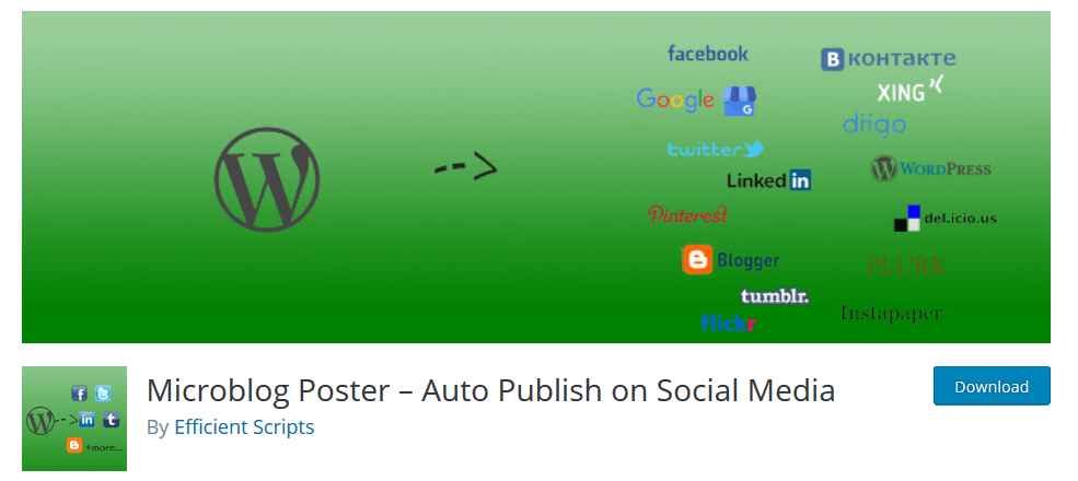 Microblog Poster- Auto Publish On Social Media