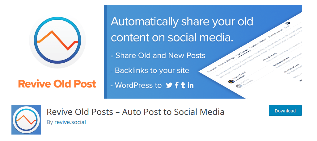 Revive Old Posts- Auto Post To Social Media