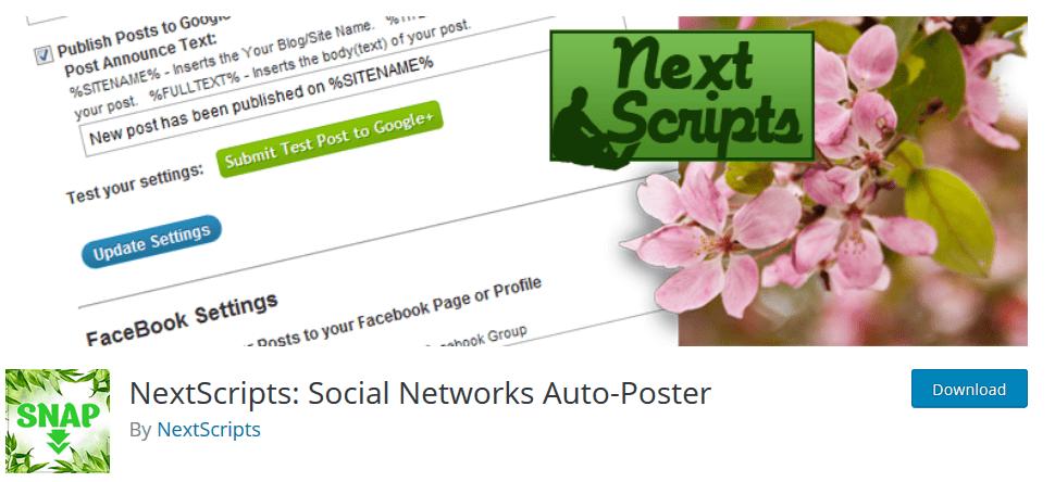 Next Script: Social Networks Auto-Poster