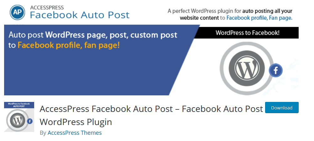 AccessPress Facebook Auto Post-Facebook Auto Post WordPress Plugin