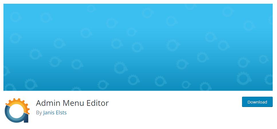 Admin Menu editor plugin
