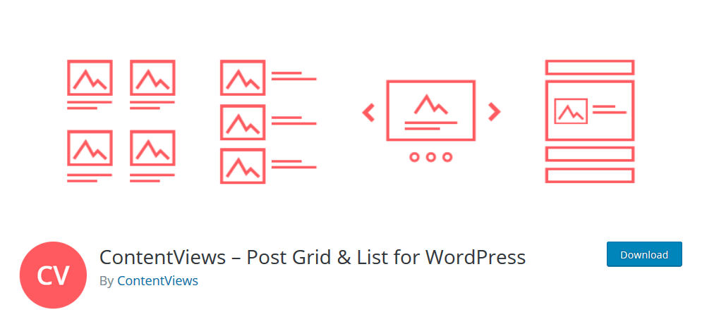 ContentView-Post Grid & List For WordPress