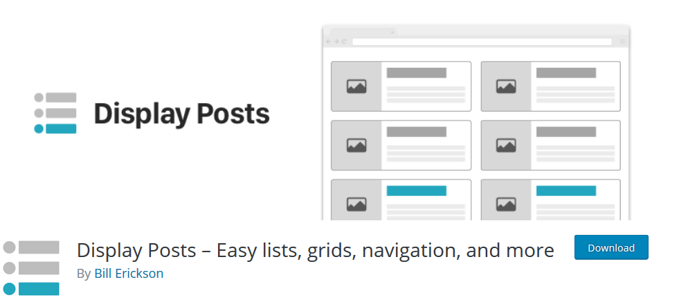 Display Posts – Easy Lists, Grids, Navigation, and More