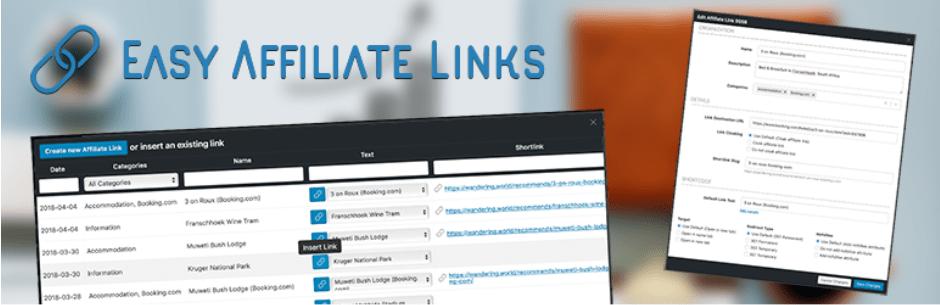Easy Affiliate Links Plugin
