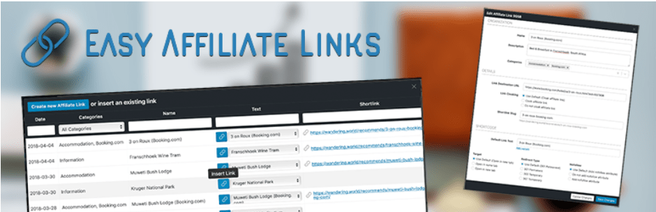 Easy Affiliates Links plugin in wordpress
