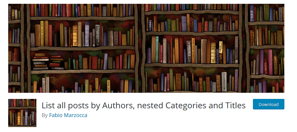 List All Posts By Authors, Nested Categories And Titles