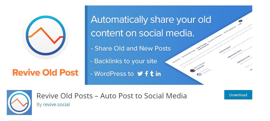 Revive Old Posts plugin