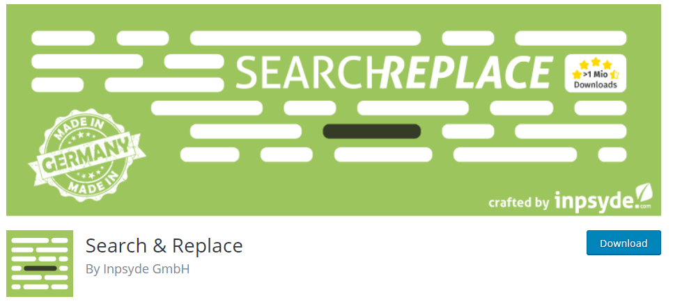 Replace url in Database using Search And Replace Plugin