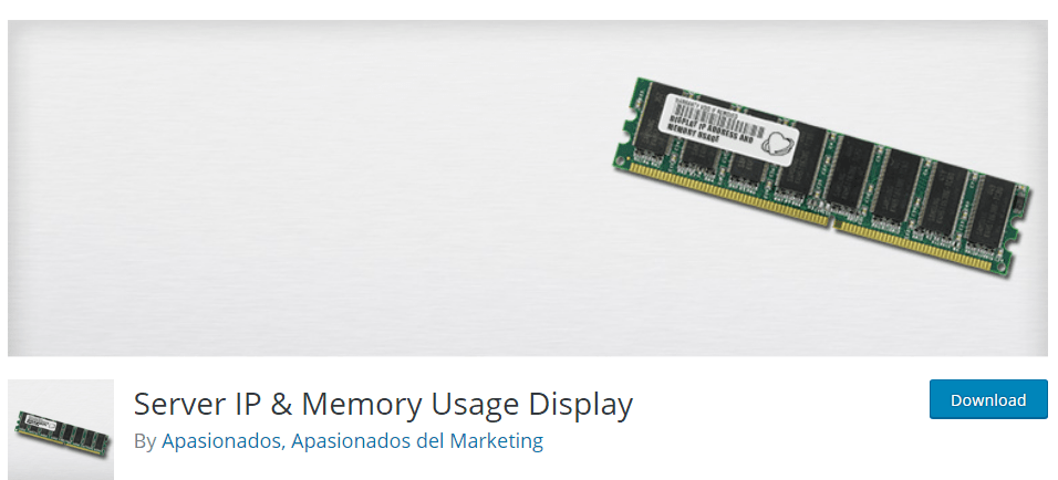 Server IP and Memory Usage Display plugin