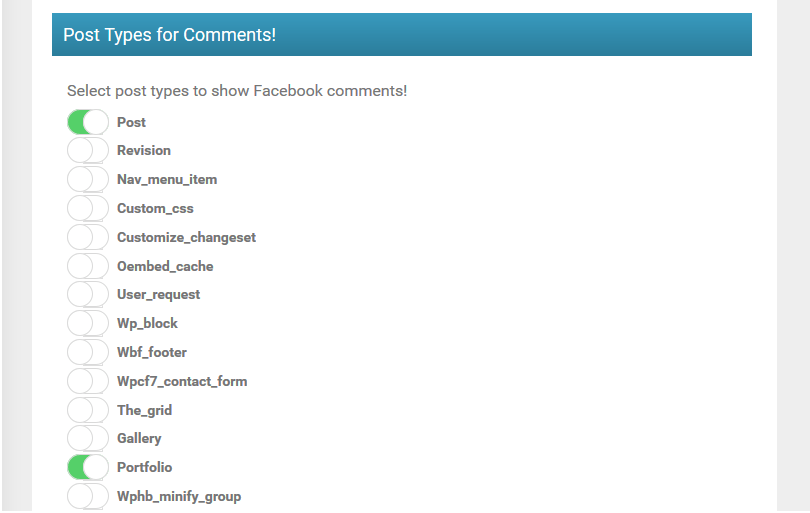 WP Facebook comments setup