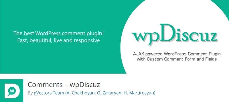 WPdiscuz comment system plugin