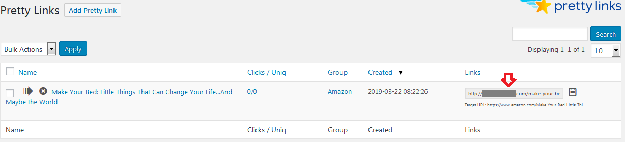 affiliate links are cloaked