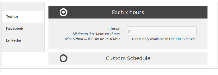 custom post schedule