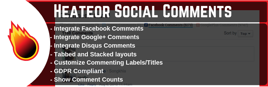 Heateor Social Commnets plugin