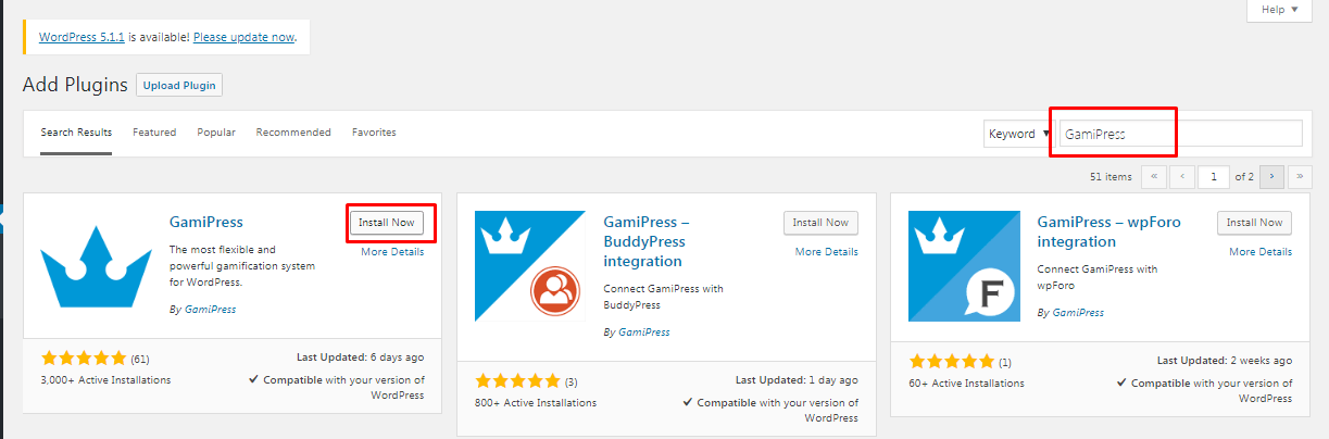 install the Gamipress plugin