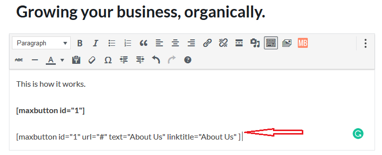 max buttons add to post selecting mb options post