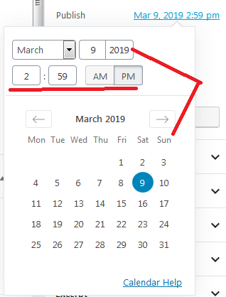 schedule posts-post date selector
