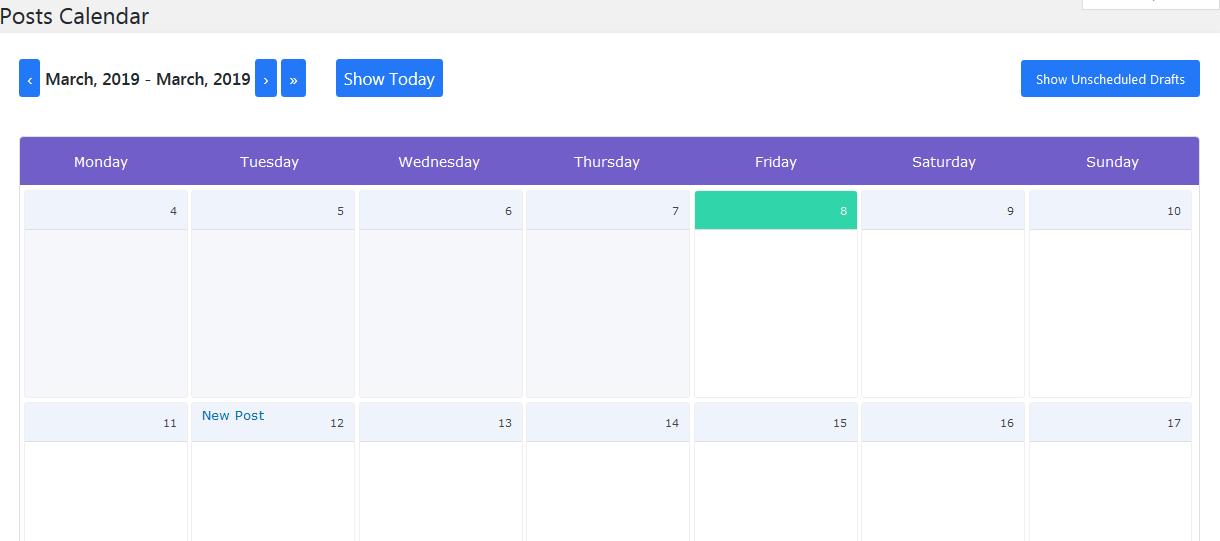 schedule posts-posts calendar