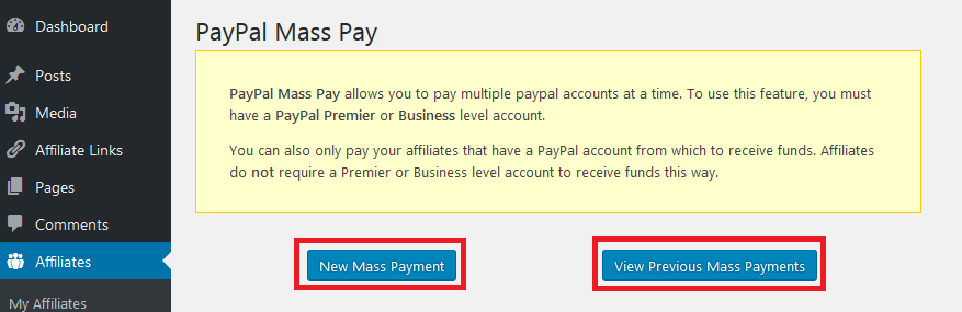 use paypal mass payments