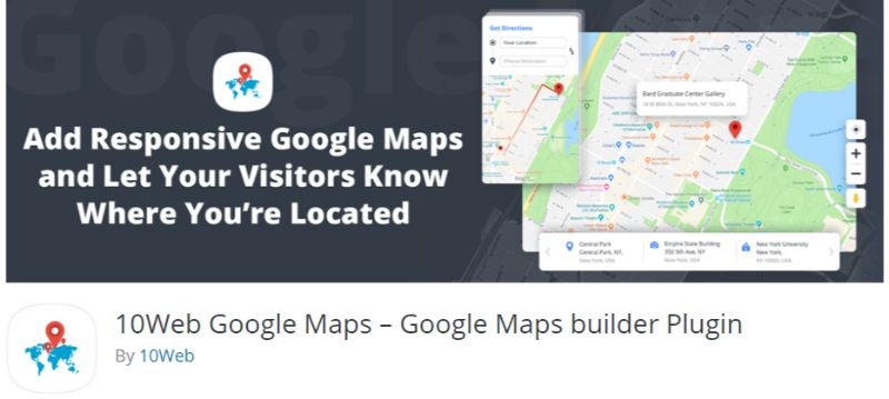 10Web Google Maps plugin