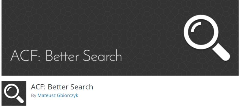 ACF Better Search plugin for WordPress