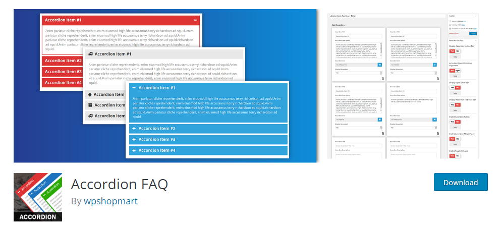 Accordion FAQ plugin for wordpress