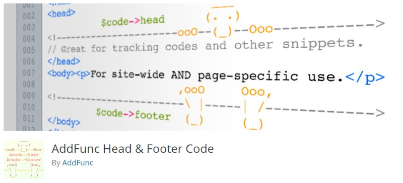 AddFunc Head _ Footer Code plugin in wordpress