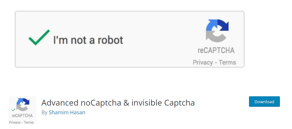 Advanced NoCaptcha & Invisible Captcha wordpress captcha plugin