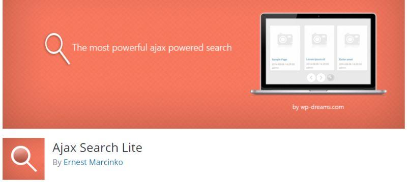 Ajax Search Lite WordPress search plugin