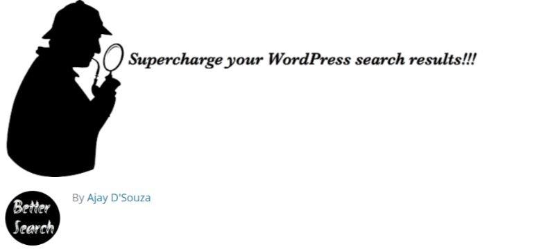 Better Search plugin for wordpress