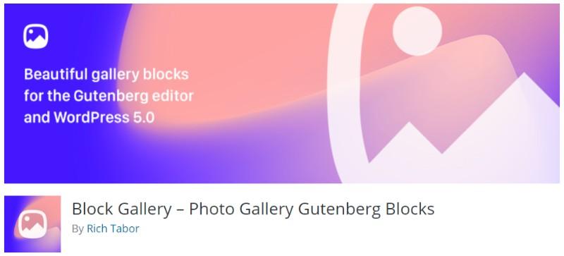 Block Gallery plugin in wordpress