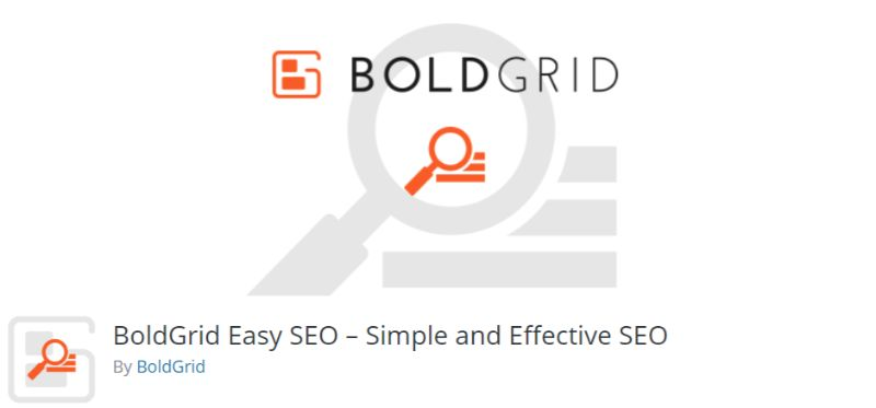 BoldGrid Easy SEO plugin for WordPress