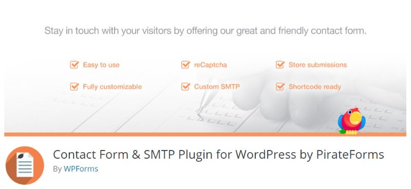Contact Form and SMTP plugin for WordPress by PirateForms