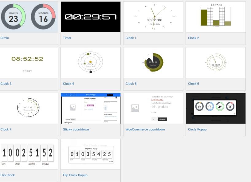Countdown Countdown and Clock wordpress countdown timer plugin designs