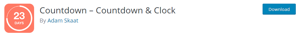 Countdown Countdown and Clock wordpress countdown timer plugin