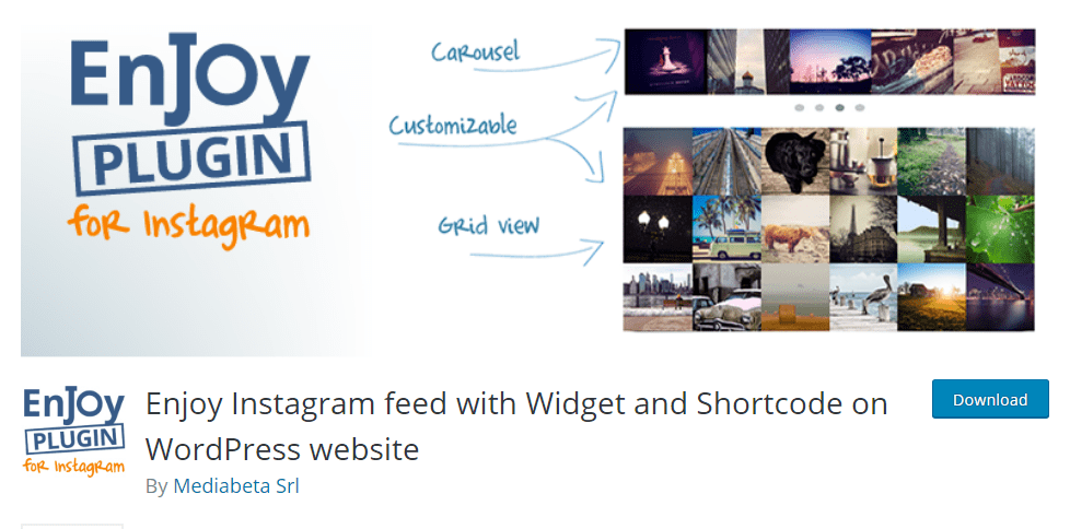 Enjoy Instagram Feed With Widget and Shortcode on WordPress Website
