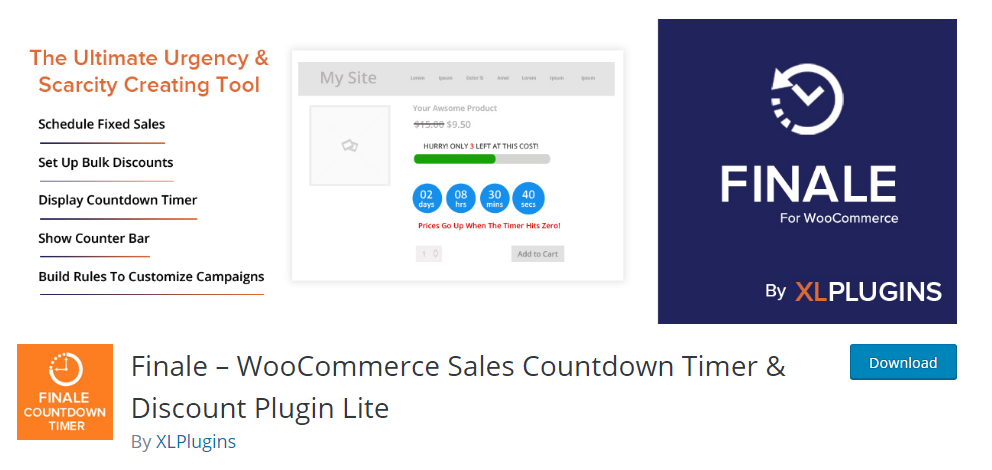 Finale WooCommerce Sales Countdown Timer and Discount Plugin Lite
