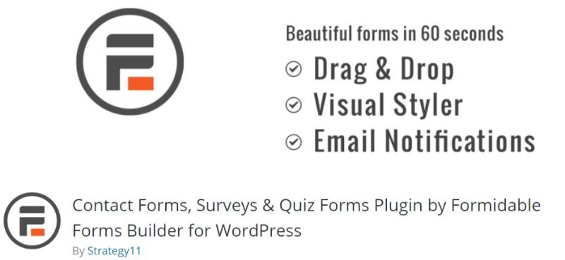 Formidable wordpress survey plugin