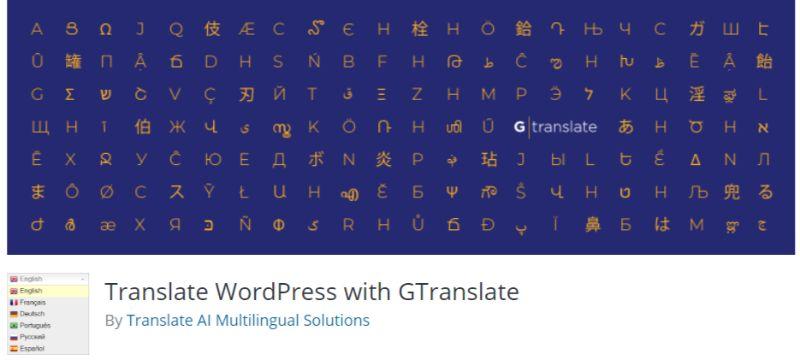 GTranslate WordPress translation plugin