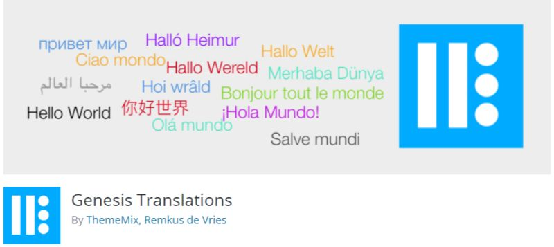 Genesis Translation plugin for WordPress