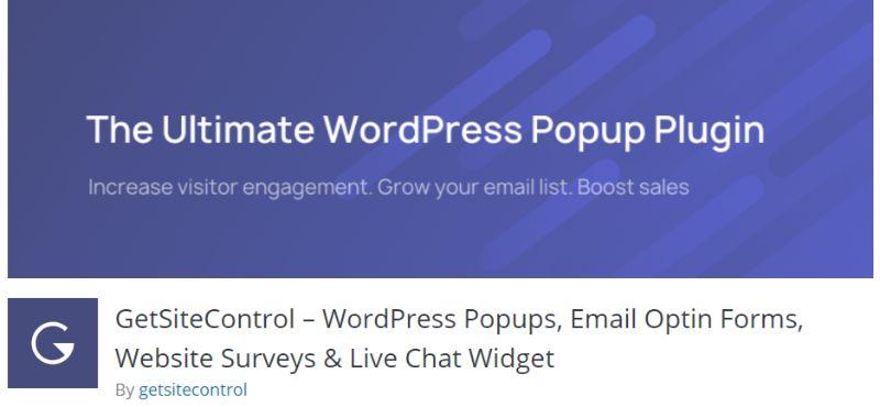 GetSiteControl wordpress survey plugin