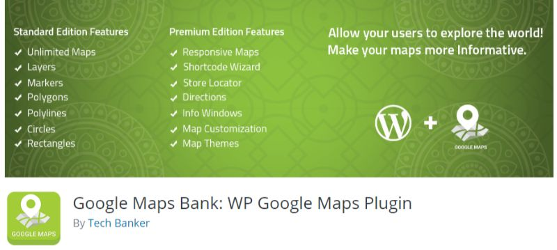 Google Maps Bank WP Google Maps Plugin