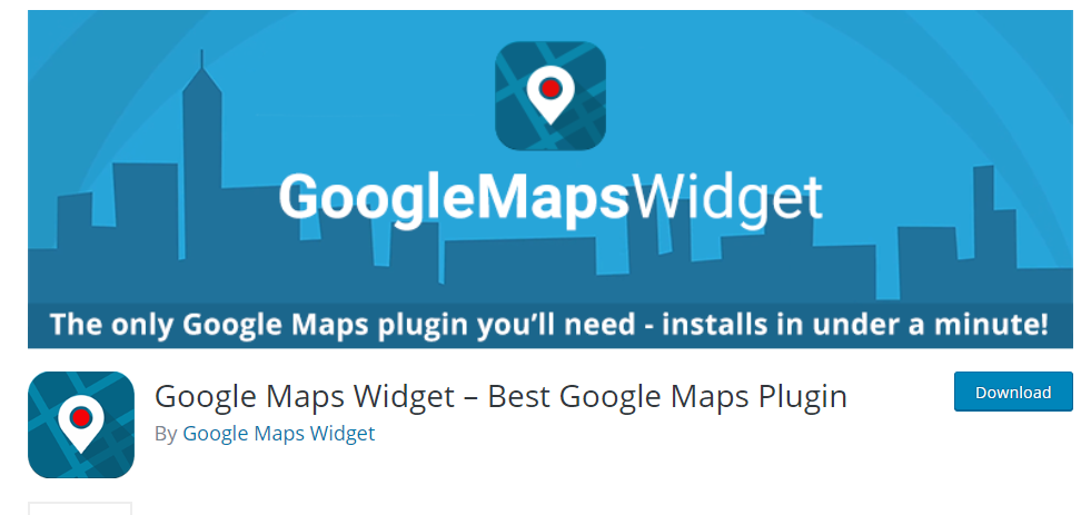 Google Maps Widget plugin for WordPress