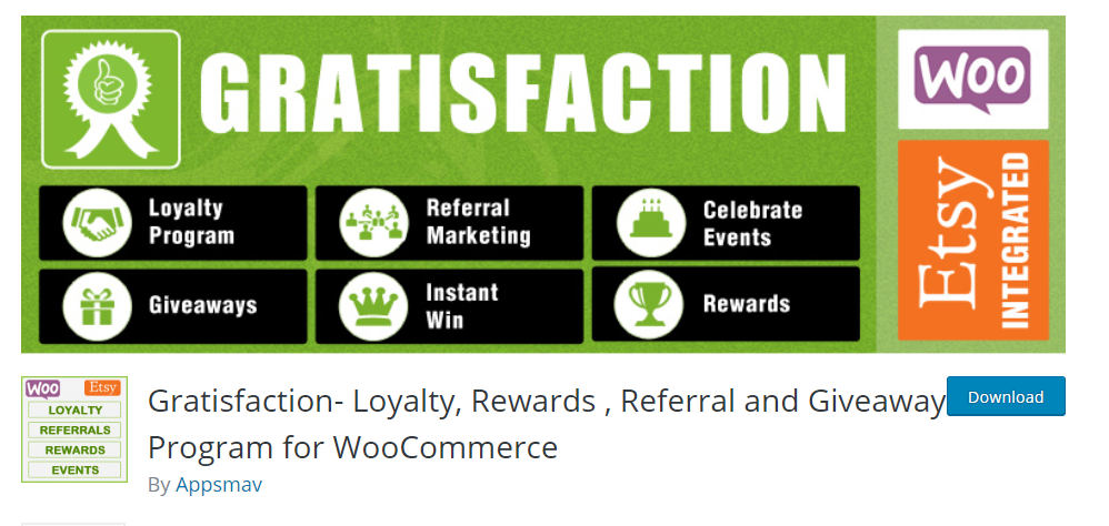 Gratification Loyalty, Rewards, Referral and Giveaway Program for WooCommerce